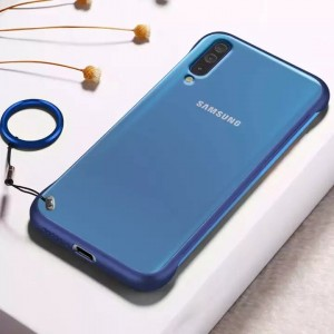 Samsung Galaxy A50 A50S A30S (Frameless)Slim Translucent Matte Texture Design Hard PC Back Cover Shock Bumper Corners