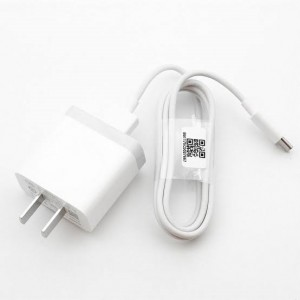 Xiaomi 3A Charging Adapter with Type-C Cable - White