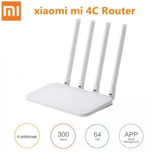 Xiaomi Mi 4C Wireless Router 2.4GHz / 300Mbps / Four Antennas - WHITE