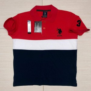 USA polo T-shirt Red