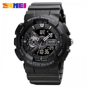 SKMEI Sports Fashion Digital Chronograph Dual Display Alarm 50M Waterproof EL Light Watches For Men 1688