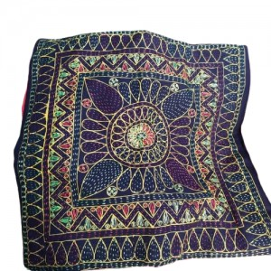 Nakshi kantha/নকশী কাঁথা Navi Blue Cushion Cover - 5 pcs