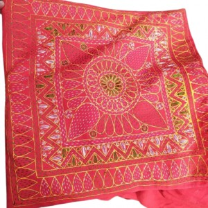Nakshi kantha/নকশী কাঁথা Red Cushion Cover - 5 pcs