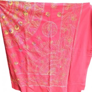 Nakshi /নকশী Bed sheet with Pillow Cover- Pink