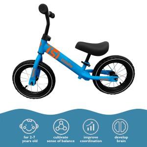 "12"" Baby Walker Kids Balance Bike No-Pedal Carbon Steel Frame Inflatable Tire"