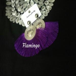 Earrings Purple