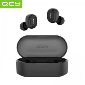 QCY T1 TWS Bluetooth Dual Earbuds Black with Charging Port