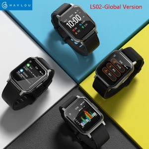 Xiaomi Haylou LS02 Touch Screen Square Shape Smart Watch Black