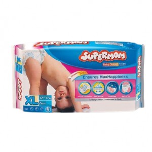 SUPERMOM Baby Diaper XL 12-17 kg (3 Pcs)