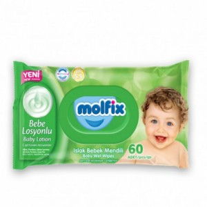 Molfix Baby Wet Wipes 60Pcs Regular