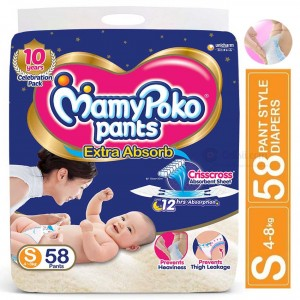 MamyPoko Pants Diapers S 4-8kg 58pcs