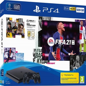 PlayStation slim FIFA 20 and double controller bundle package
