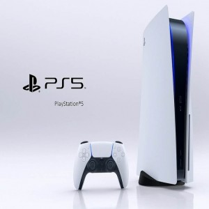 Sony PS5 Black & White Gaming Console with 1x Wireless Controller