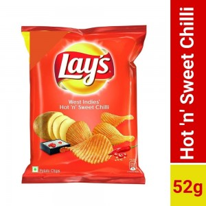 Lay's West Indies' Hot N' Sweet Chilli Chips 52gm