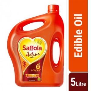 Saffola Active Oil Blended Edible Vegetable Oil - 5 Litre