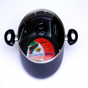 Kiam Non-stick Saucepan Cooking Pot 34 CM with Glass Lid