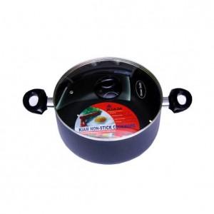 Kiam Non-stick Saucepan Cooking Pot 26 cm with Glass Lid