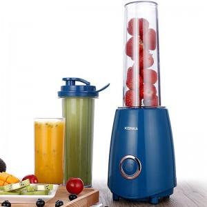 KONKA KJ-JF302 Electric Juicer Blender with Two Bottle Juice Vegetables Fruit Milkshake Mixer 300W 220V Electric Blender US Plug