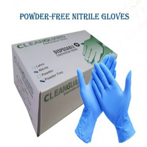 CLEANGUARD Nitrile Powder Free Blue Examination Gloves | 100 pieces(50 pairs)