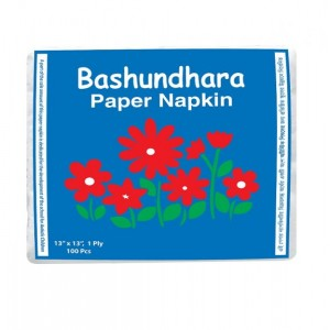 Bashundhara Paper Napkin, 100 x 1 Ply