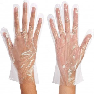 Polyethylene Gloves Medium 100 PCS / 50 Pair - *Transparent*