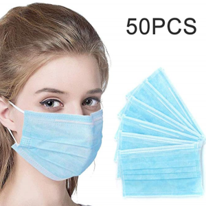 Disposable Surgical Face Mask With Noseclip - 50 Pcs