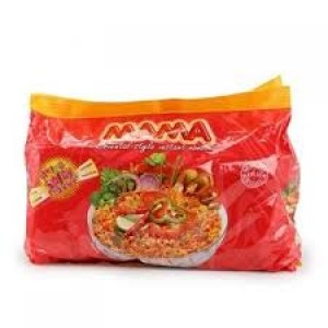 Mama Hot & Spicy Flavor, Oriental Style Instant Noodles (Pack of 8 ), 496 Gm
