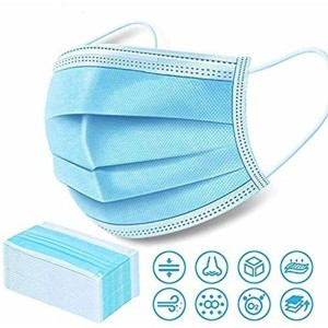 Disposable Surgical Face Mask With Noseclip - 100 Pcs