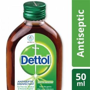 Dettol Antiseptic Disinfectant Liquid 50ml (Brown)
