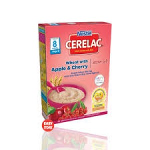 Nestlé® CERELAC® Wheat & Apple, Cherry with Milk Stage 2 Baby Food (from 8 months) 400g Box