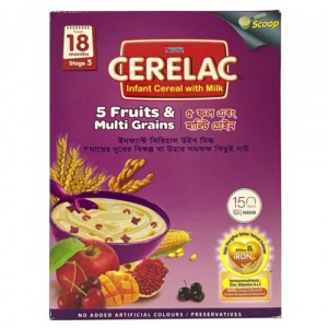 Nestlé® CERELAC® 5 Fruits & Multi Grain with Milk Stage 5 Baby Food (from 18 months) 350g Box