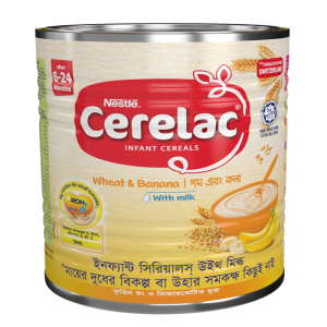 Nestlé® CERELAC® Wheat & Banana with Milk Stage 1 Baby Food (after 6 months) 350g Tin