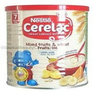 Nestle Cerelac Mixed Fruits & Wheat Fruits, ble With Milk (From 7 Month) - 400g