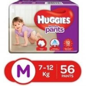 Huggies WonderPants Diapers (M) 7-12kg 56pcs (Indian)