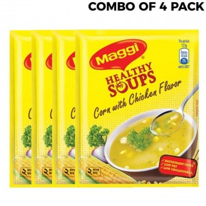 Maggi Healthy Soups Corn with Chicken Flavor - 4pcs Combo Pack