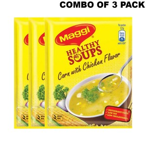 Maggi Healthy Soups Corn with Chicken Flavor - 3pcs Combo Pack