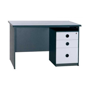 TABLE EXECUTIVE GRAPHITE LIGHT GREY WITH DRAWER UNIT 1