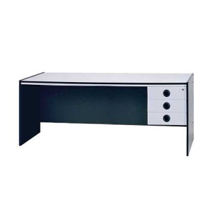 TABLE EXECUTIVE GRAPHITE LIGHT GREY & DRAWER UNIT
