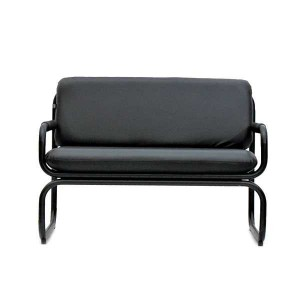 DOUBLE SEATER SOFA ALL BLACK