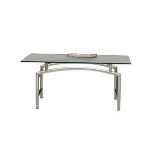 CENTRE TABLE WITH GLASS ST-SS TOP-GLASS