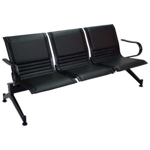 2 Seater Waiting Chair- MS Black