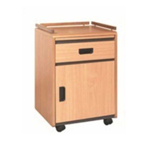 HOSPITAL BED SIDE TABLE BLACK BEECH