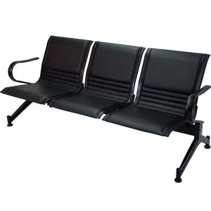 3 Seater Waiting Chair- MS Black