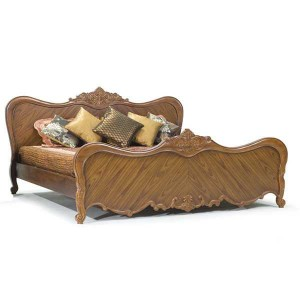 KING BED ALL CREAMY WALNUT