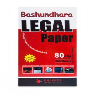 Bashundhara Legal 80 GSM Offset Paper (Pack of 500 Sheets)