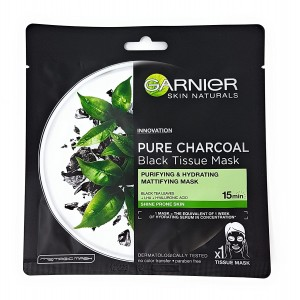 Garnier Skin Naturals Black Pure Charcoal Serum Face Mask 64 gm